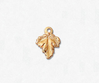 Gold Filled Charm Leaf 7.5x9.6mm - Pack of 1