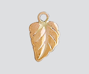Gold Filled Charm Leaf 8.5x6mm - Pack of 1