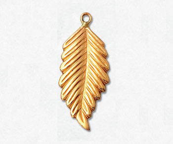 Gold Filled Charm Left 9.4x21.5mm - Pack of 1