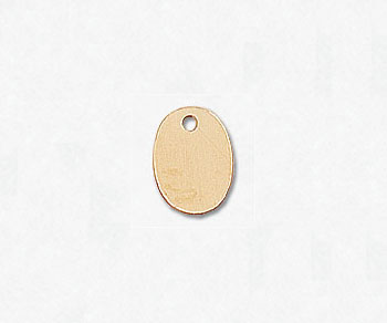 Gold Filled Charm Oval 6x8mm w/Hole - Pack of 1