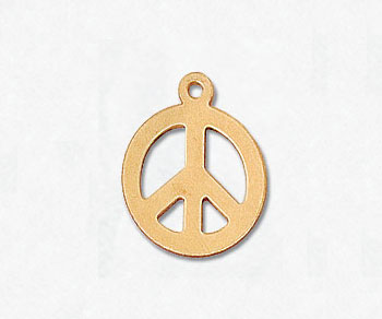 Gold Filled Charm Peace & Love 11.5mm - Pack of 1