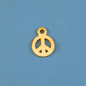 Gold Filled Charm Peace Stamp 6mm - Pack of 1