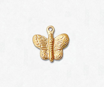 Gold Filled Charm ButterFly 10.7x10.3mm - Pack of 1