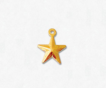 Gold Filled Charm Puffed Star 8mm - Pack of 1