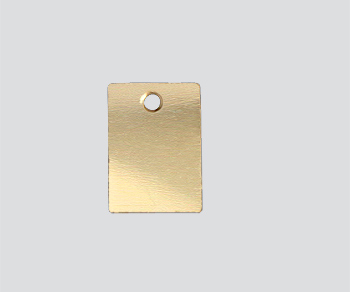 Gold Filled Charm Rectangular 6.1x8.7mm - Pack of 1