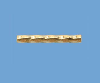 Gold Filled Straight Tube  Twist  1.5x13mm - Pack of 5