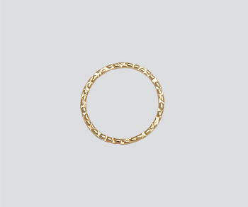 Gold Filled Textured Ring Closed 15mm - Pack of 1