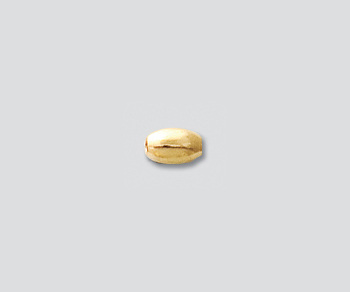Gold Filled Bead Bright Oval 3x5mm -Pack of 2
