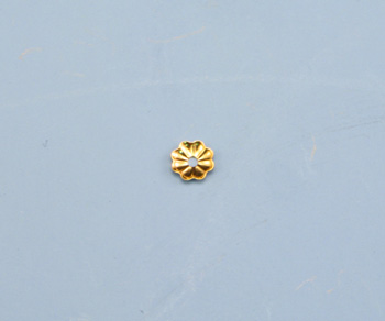 Gold Filled Flower Shaped Bead Caps 4mm - Pack of 10