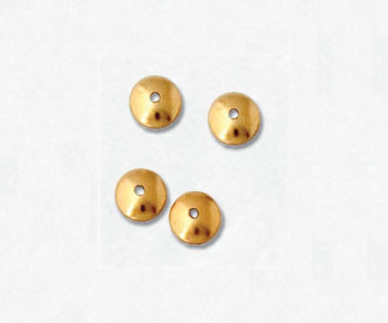 Gold Filled Bead Caps 4mm - Pack of 10