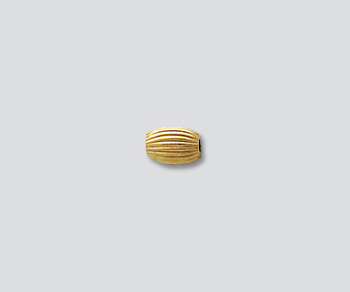 Gold Filled Bead Corrugated Oval 3x5mm - Pack of 2