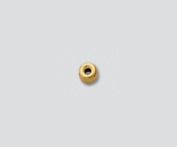 Gold Filled Bright Roundel 3mm - Pack of 10