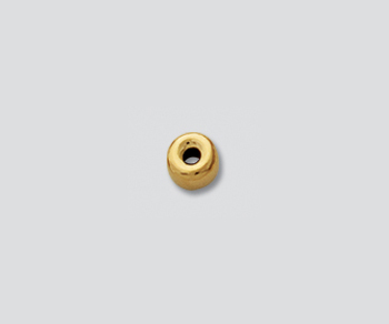 Gold Filled Bright Roundel 4mm - Pack of 10