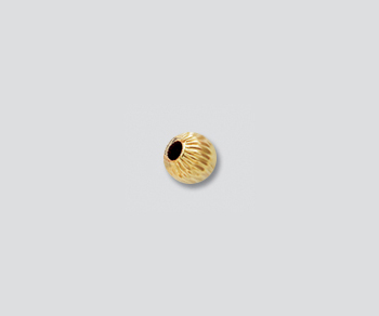 Gold Filled Corrugated Bead 4mm - Pack of 5