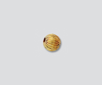 Gold Filled Corrugated Bead 5mm - Pack of 5
