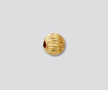 Gold Filled Corrugated Bead 6mm - Pack of 5