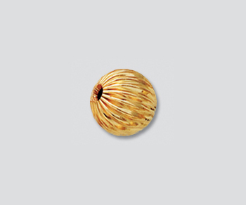 Gold Filled Corrugated Bead 8mm - Pack of 1