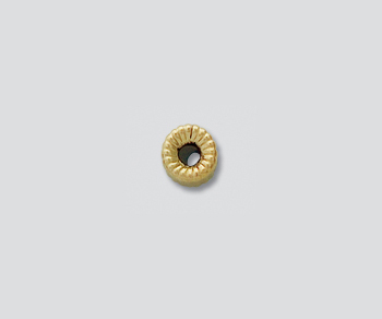 Gold Filled Corrugated Roundel 4mm - Pack of 5