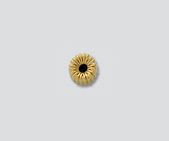 Gold Filled Corrugated Roundel 5mm - Pack of 5