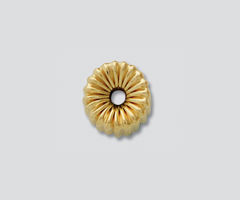 Gold Filled Corrugated Roundel 8mm - Pack of 1