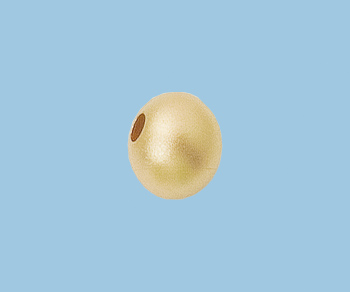 Gold Filled Matte Bead  8mm  (hole 2.2mm) - Pack of 1