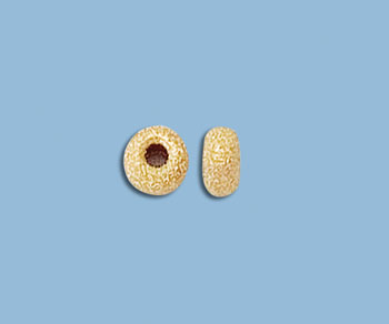 Gold Filled Stardust Roundels 6mm - Pack of 2