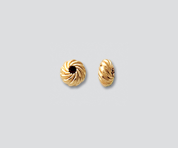 Gold Filled Twisted Roundels 4.5mm - Pack of 2