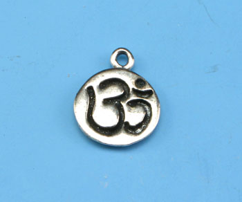 Sterling                                             Silver Charm OM Pendant 11mm - Pack of 1