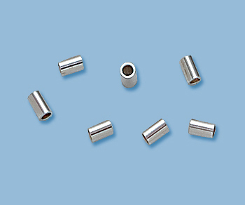 Sterling Silver Crimp Beads 2x3mm - Pack of 25