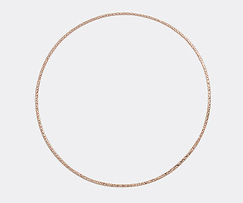 Rose Gold Filled Bangle Textured 67mm - Pack of 1