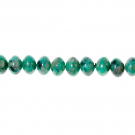 Emerald-colored Kiwi Jasper Beads