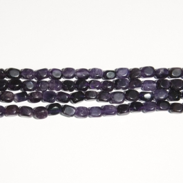 Amethyst 8x10mm  Nugget Beads - 8 Inch Strand
