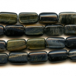Blue Tiger Eye 8x14mm Rectangle Beads - 8 Inch Strand