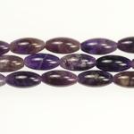 Amethyst 8x16mm Rice Beads - 8 Inch Strand