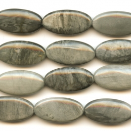 Cat's Eye 15x30mm Oval Beads - 8 Inch Strand