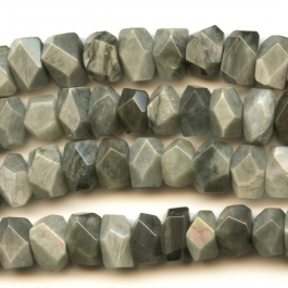Cat's Eye 7x12mm Faceted Nugget Beads - 8 Inch Strand
