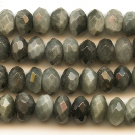 Cat's Eye 8mm Faceted Rondelle Beads - 8 Inch Strand