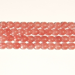 Cherry Quartz 10mm Round Beads - 8 Inch Strand