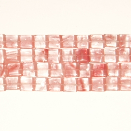 Cherry Quartz 12mm Square Beads - 8 Inch Strand
