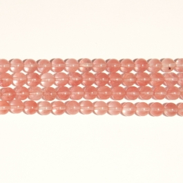 Cherry Quartz 8mm Round Beads - 8 Inch Strand