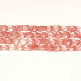 Cherry Quartz 8x10mm  Nugget Beads - 8 Inch Strand