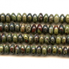 Dragon Blood Jasper 6mm Rondelle Beads - 8 Inch Strand
