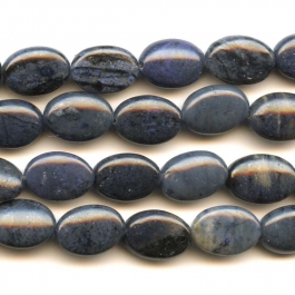 Dumortierite 10x14mm Oval Beads - 8 Inch Strand