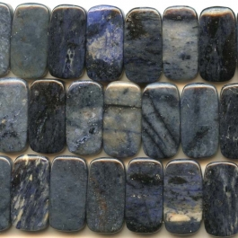 Dumortierite 10x20mm Double Drilled Beads - 8 Inch Strand