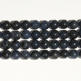 Dumortierite 12mm Round Beads - 8 Inch Strand