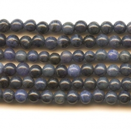 Dumortierite 4mm Round  Beads - 8 Inch Strand