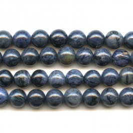 Dumorterite 8mm Round Beads - 8 Inch Strand