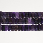 Amethyst 10x20mm Double Drilled Beads - 8 Inch Strand