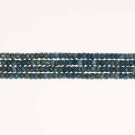 Blue Apatite 6mm Rondelle Faceted Beads - 8 Inch Strand