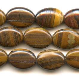 Iron Zebra Jasper 10x14mm Oval Beads - 8 Inch Strand